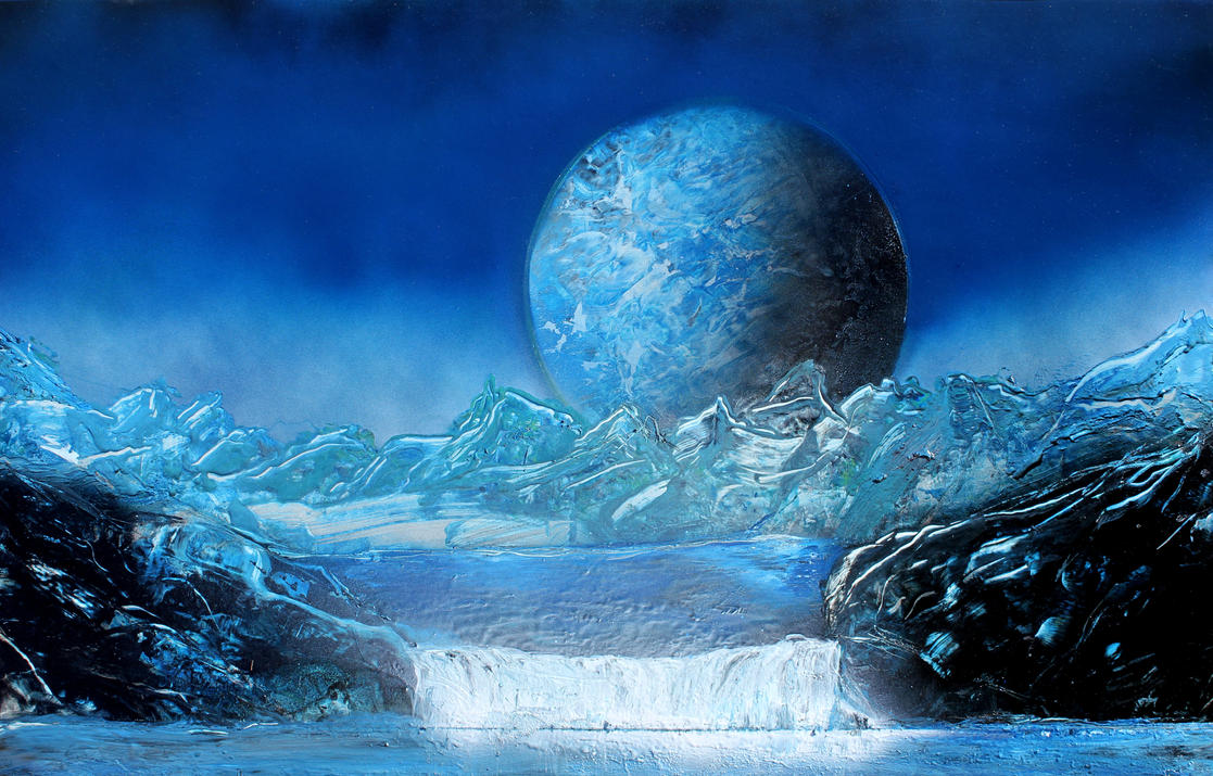 Blue Mountain and Planet by dpershing on deviantART