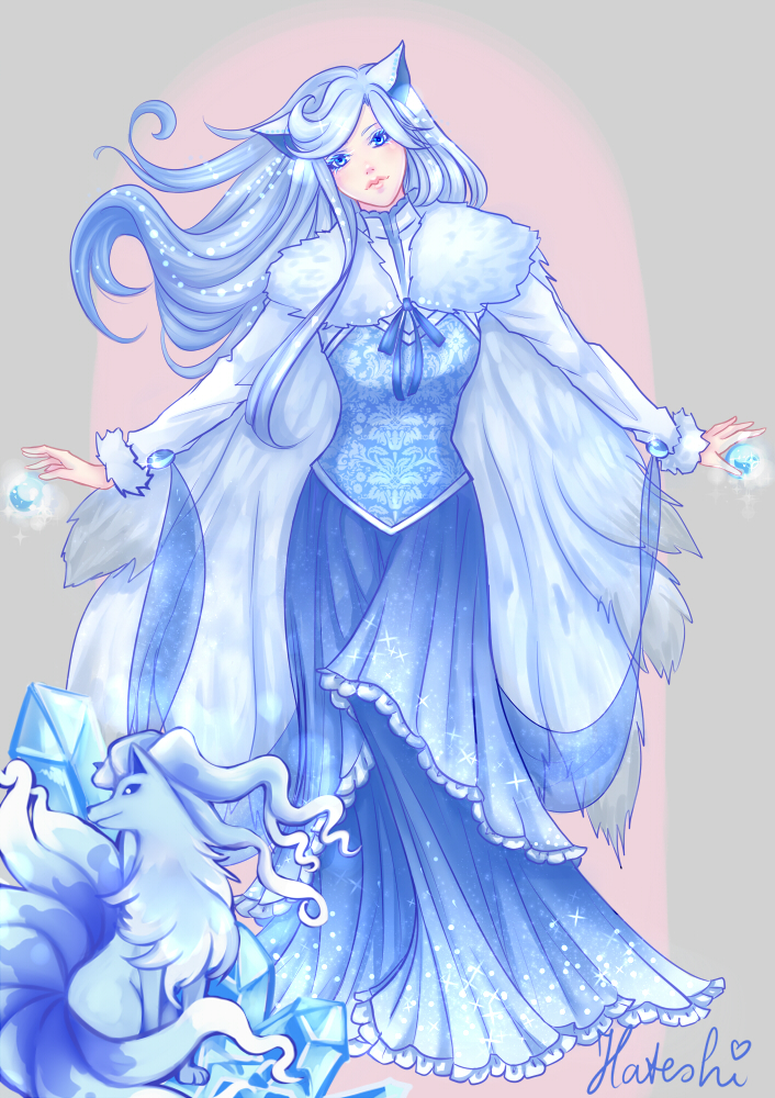 Ninetales Gijinka by HateshiNura on DeviantArt