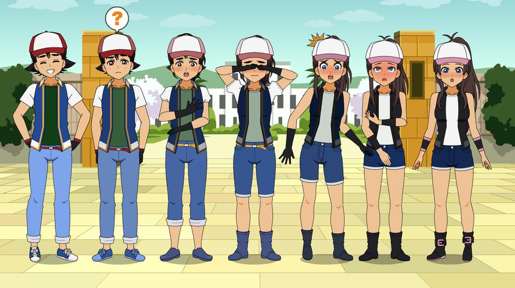 Ash To Hilda Pokemon Tg Tf By Eppuzoha On Deviantart
