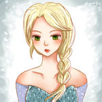 Elsa from Frozen by miyamiyah
