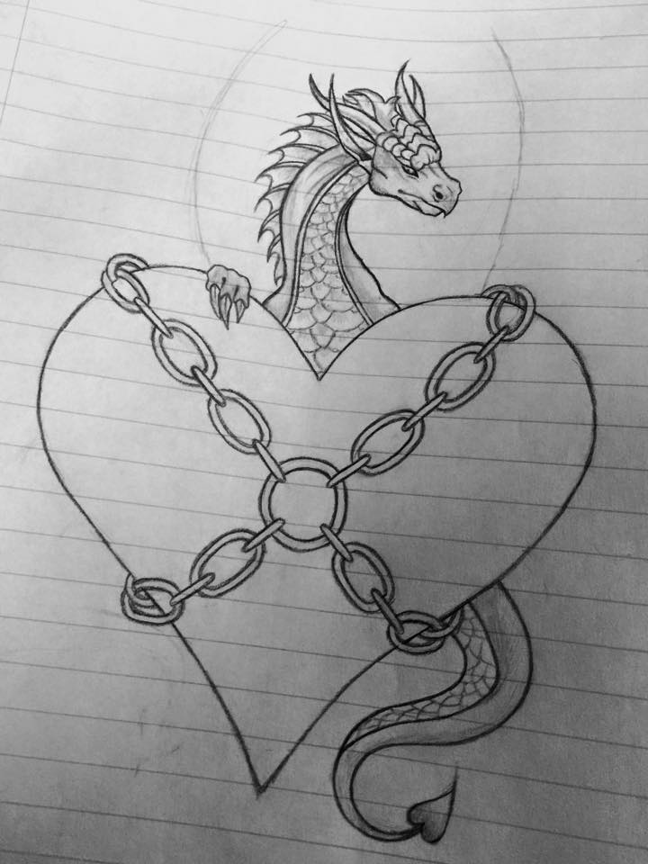 dragon valentine's day drawingtherandomthings on deviantart, Ideas