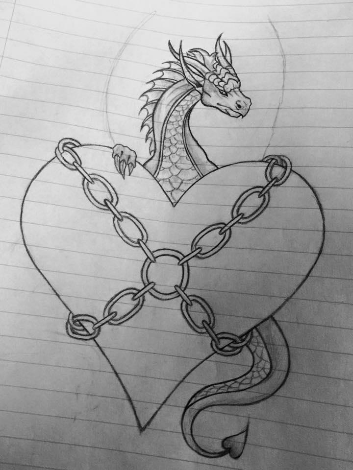 dragon valentine's day drawingtherandomthings on deviantart, Ideas