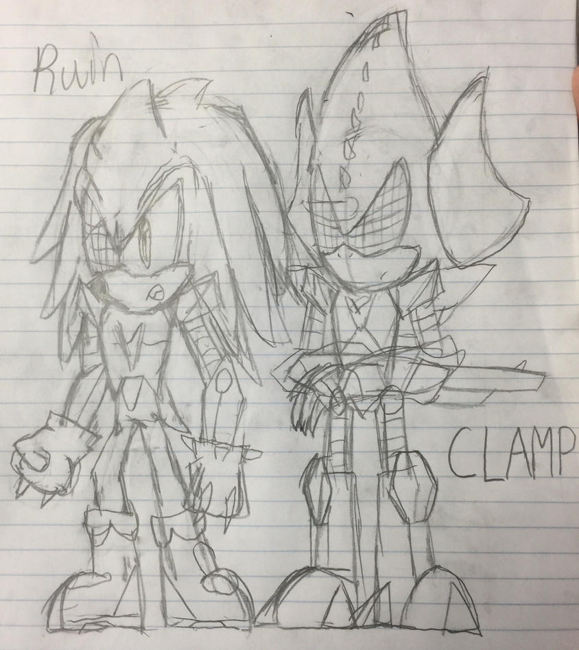Ruin and Clamp (notebook sketch) by FCmania