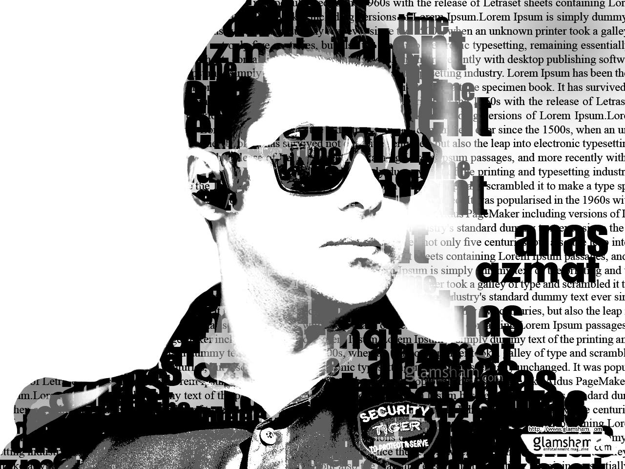 Photoshop B/W Salman Khan typography by Anas Ali by yashali