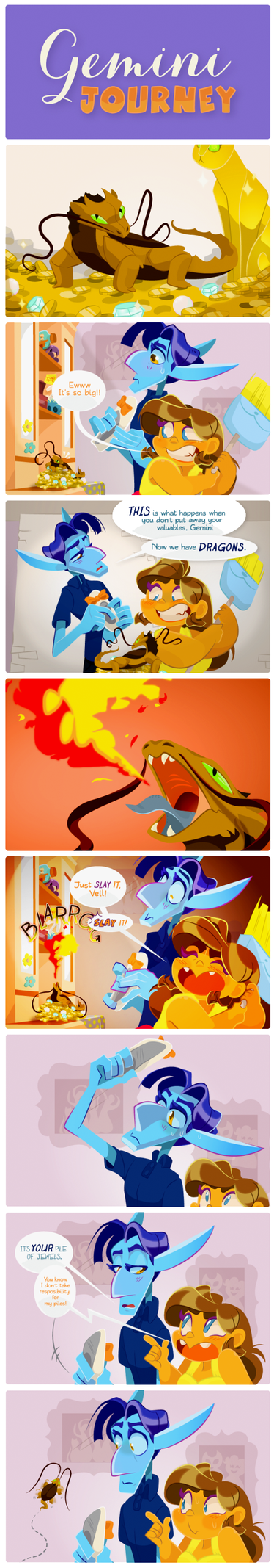 GJ Test Comic Pt.1 : Here There Be Dragons! by Saetje