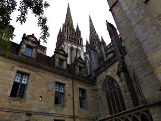 Quimper Cathedral-cloister view by incoming-101