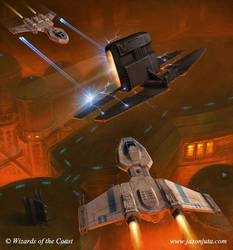 Star Wars: Ionizer vs Nu-Class by jasonjuta