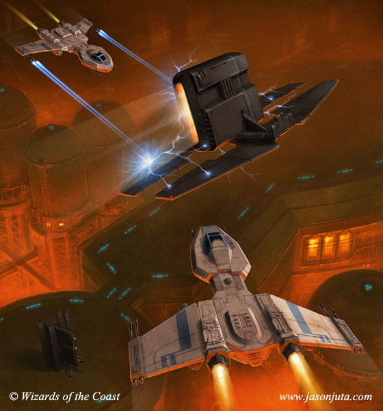Star Wars: Ionizer vs Nu-Class by jasonjuta