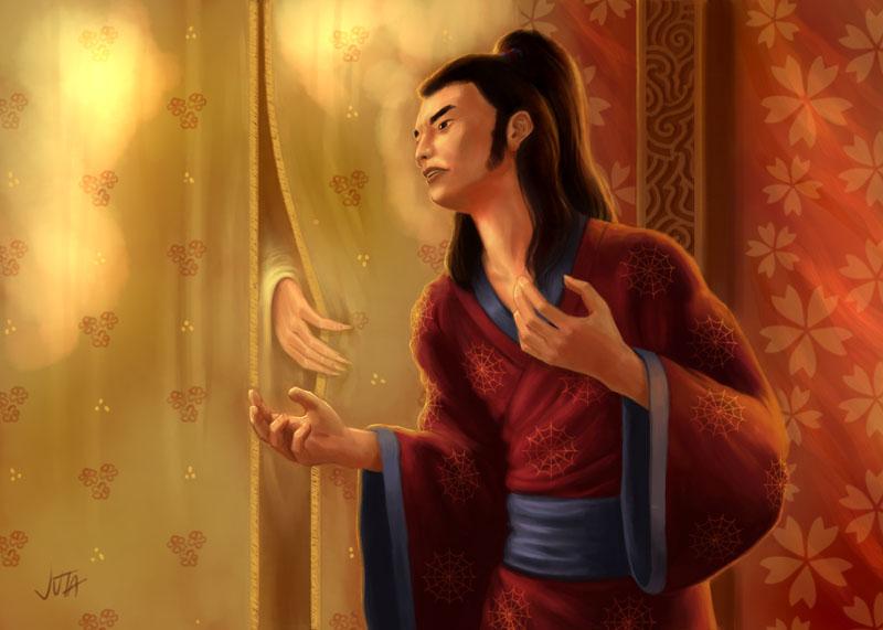 Bayushi's Guidance  y mas L5R__Daigotsu_Susumu_by_higherdepths