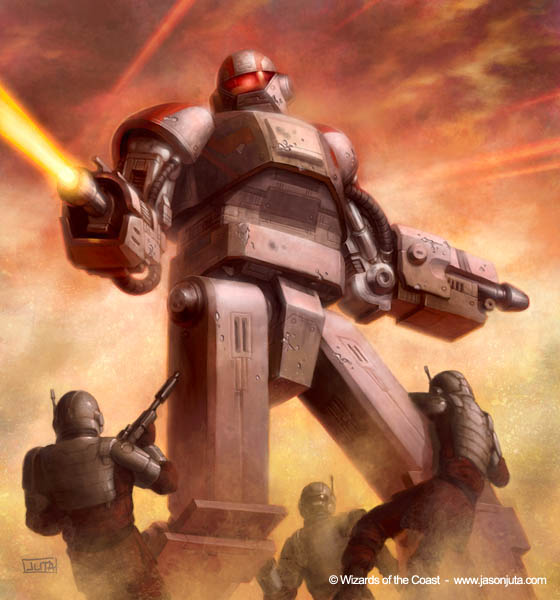 Star Wars RPG: SD-9 Droid by jasonjuta