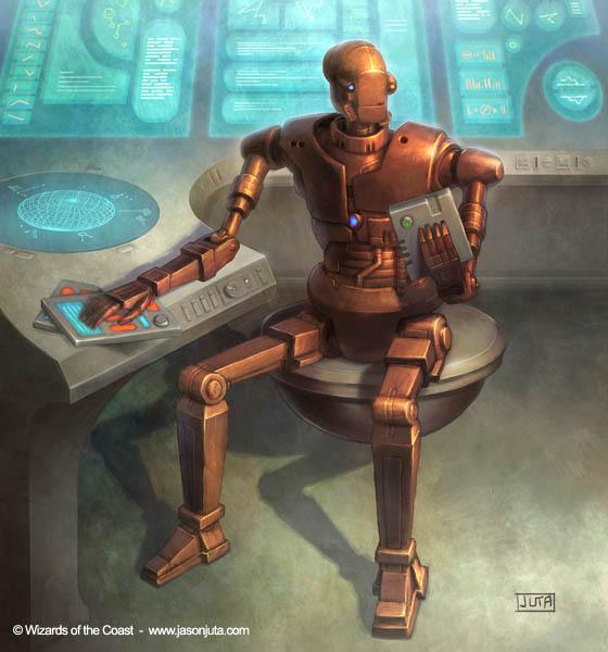 Star Wars: Admin Droid by jasonjuta