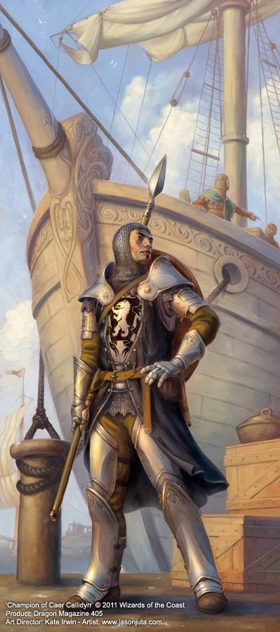Champion of Caer Callidyrr by jasonjuta