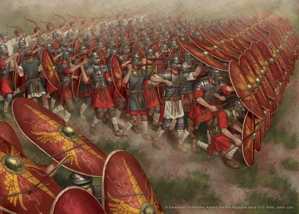 Roman Infantry Formation by jasonjuta on DeviantArt