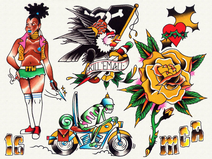 Tattoo Flash by matiasmca