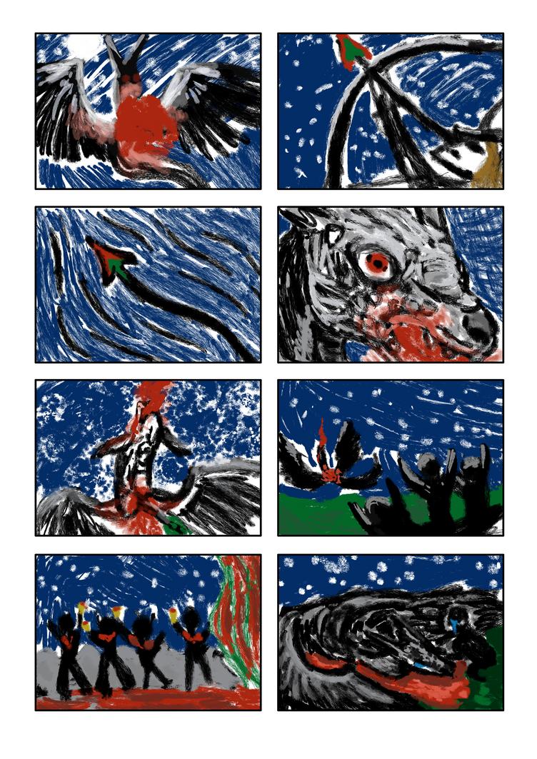 2 - Silent comic - Dragon attack by FaroSamor
