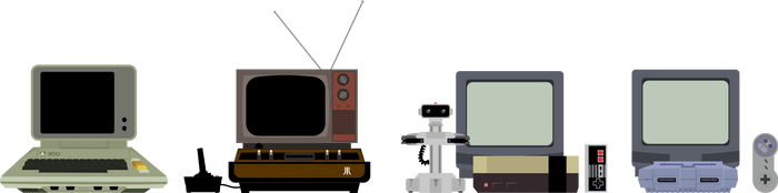 Retro Game Systems by doncroswhite