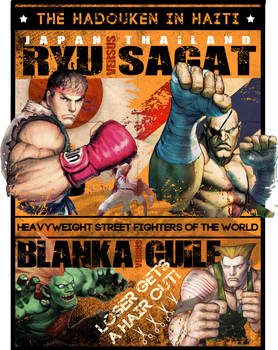 Street Fight Boxing Poster