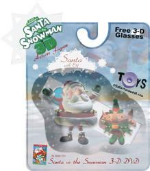 Santa VS Snowman Toy Mock-up by doncroswhite