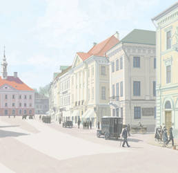 Rendezvous in Tartu. Town hall square by htj0rvald