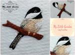 Chickadee on a branch by My--Little--Garden