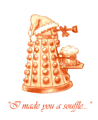 Christmas Dalek by Coeurdelouve on DeviantArt