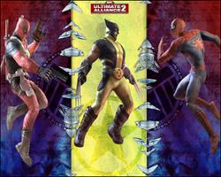 Deadpool + Spiderman V.S Logan by HishyDatDon