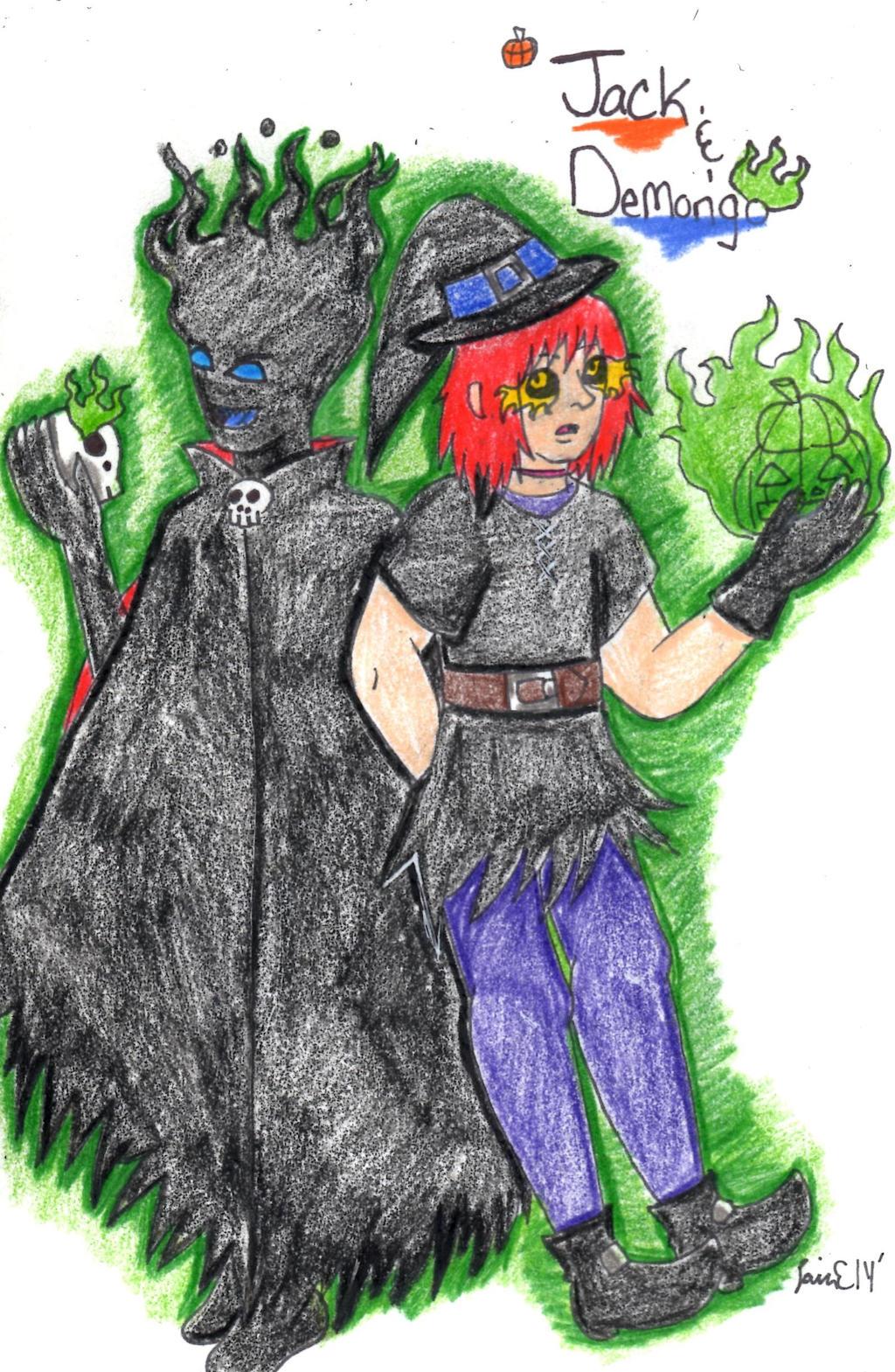 Jack and Demongo by Elainatehkitty