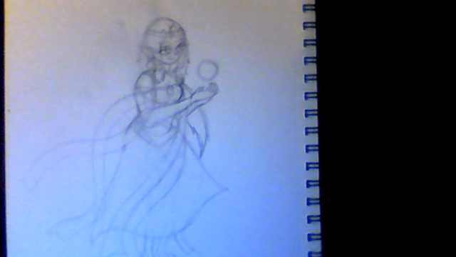 Magic Using Princess (sketch) by Elainatehkitty
