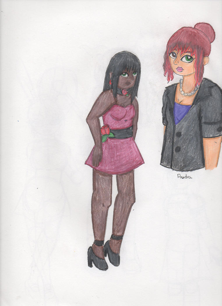 Character Sketches (Audra is in the corner) by Elainatehkitty