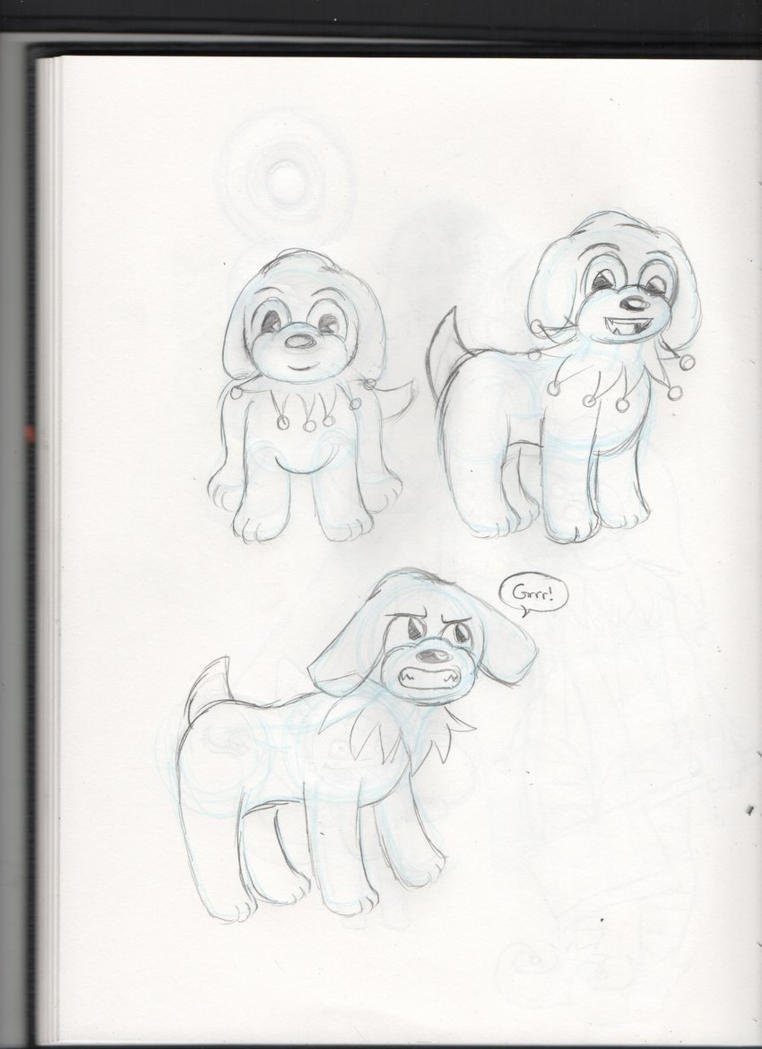 Sketches - Happy, Penelope's dog by Elainatehkitty