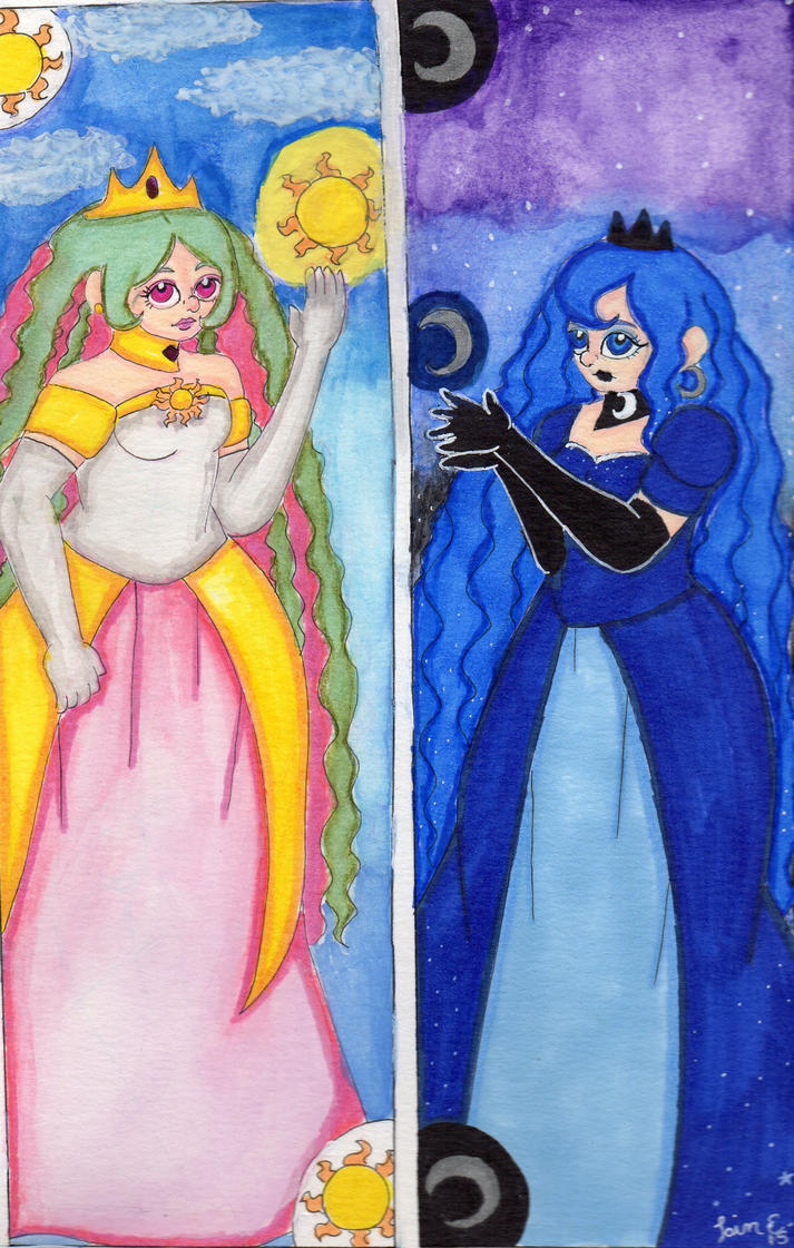 MLP - Celestia and Luna by Elainatehkitty
