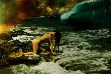 mermaid transformation by vanesagarkova
