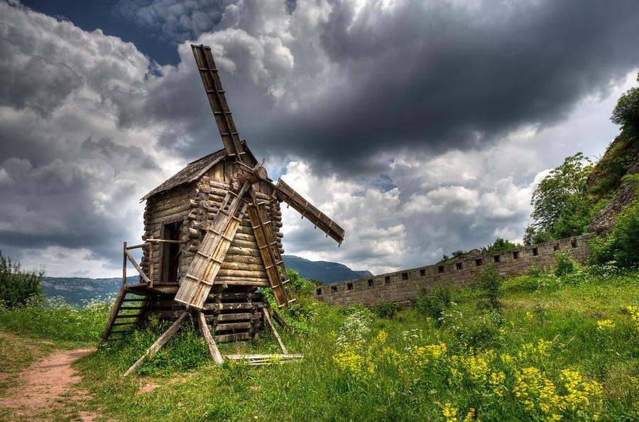 A Wooden Windmill in Belogradchik, Bulgaria