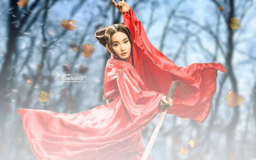 samurai girl by vanesagarkova