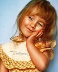 girl portrait by vanesagarkova