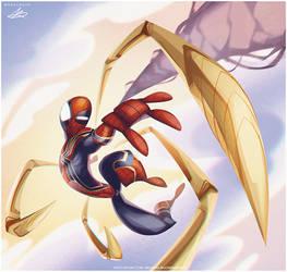 Iron Spiderman by dreelrayk