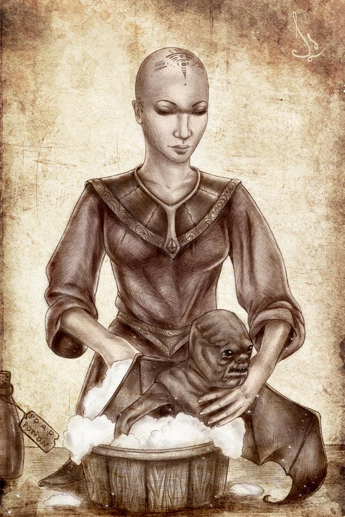 Mistress, me don't like bath.. by Isbjorg