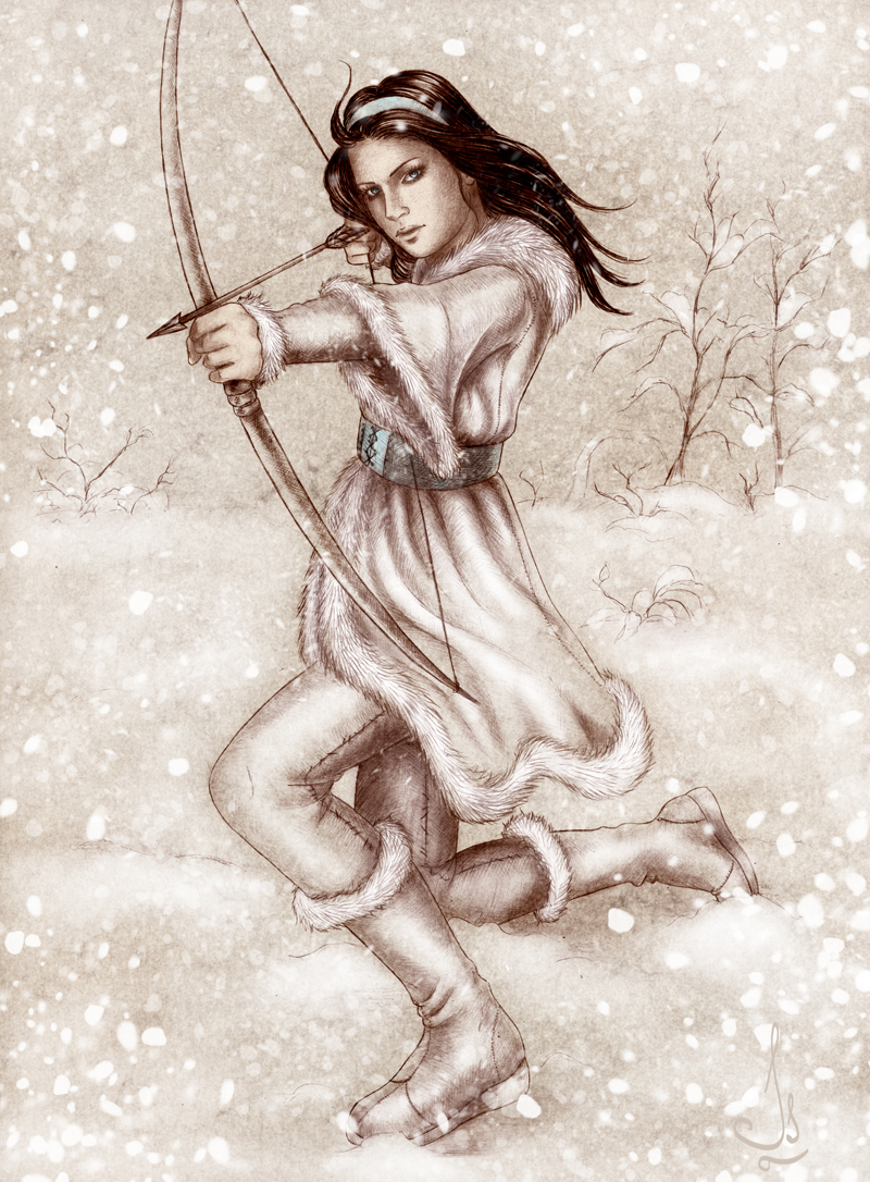 The Winter Huntress by Isbjorg
