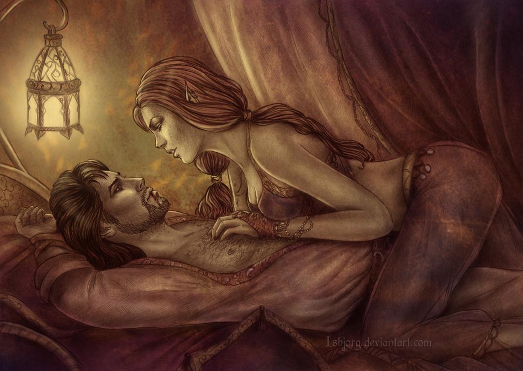 Sexy fantasy art picture