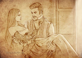 Sketch commission:  Moira and Cosimo