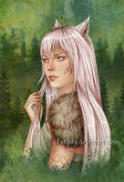 Evony the Wolfkin by Isbjorg