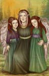Winged family by Isbjorg