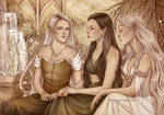 Commission : The Three Graces by Isbjorg