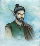 Commission : Night Elf Druid by Isbjorg