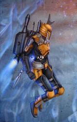 Commission :  Mandalorian warrior