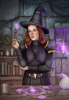 Commission : Purple Wizard
