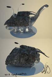WIP alien fungal mollusc by PikkewynMan