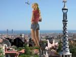 Jessica Simpson in Barcelona