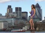 Mila Kunis in London
