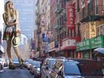 Pixie Lott in Chinatown